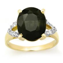 Natural 5.30 ctw Blue Sapphire & Diamond Ring 10K Yellow Gold - 12880-#37R2H