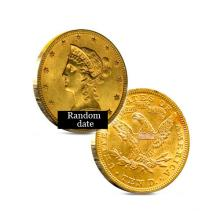 $10 Liberty Gold Coin - Eagle - 1838 to 1907 - Random date