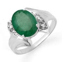 Natural 2.32 ctw Emerald & Diamond Ring 18K White Gold - 13666-#30H2W