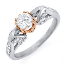 14K 2Tone Gold Jewelry 0.90 ctw Diamond Bridal Ring - SKU#U56O9- 1613-14K