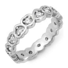 10K White Gold Jewelry 0.50 ctw Diamond Eternity Anniversary Ring - SKU#U20Z5- 1796- 10K