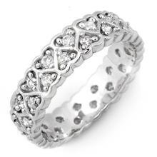 14K White Gold Jewelry 1.0 ctw Diamond Eternity Anniversary Ring - SKU#U39G2- 1654-14K