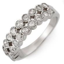 18K White Gold Jewelry 0.75 ctw Diamond Anniversary Ring - SKU#U36H2- 1435- 18K