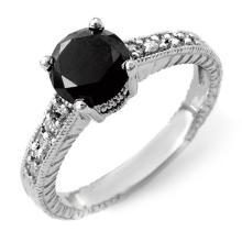 14K White Gold Jewelry 2.05 ctw Diamond Solitaire Ring - SKU#U51B7- 99381