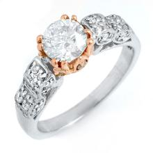 10K 2Tone Gold Jewelry 1.38 ctw Diamond Bridal Ring - SKU#U174H2- 1658- 10K