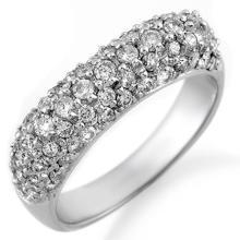 18K White Gold Jewelry 1.25 ctw Diamond Anniversary Ring - SKU#U52R2- 1290- 18K