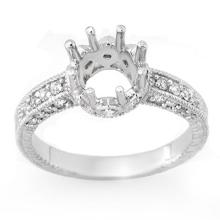 14K White Gold Jewelry 0.50 ctw Diamond Semi-mount Ring - SKU#U25W1- 1567