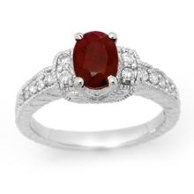 10K White Gold Jewelry 2.13 ctw Ruby & Diamond Ring - SKU#U32A1- 99263- 10K