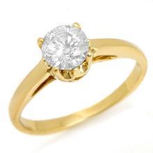 14K Yellow Gold Jewelry 0.80 ctw Diamond Solitaire Ring - SKU#U12N98- 1645-14K
