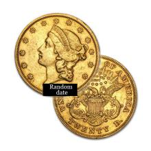$20 Liberty Gold Coin - Double Eagle - 1850 to 1907 - Random date  - REF#STF8115
