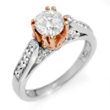 14K 2Tone Gold Jewelry 1.40 ctw Diamond Bridal Ring - SKU#U18K31- 1632-14K