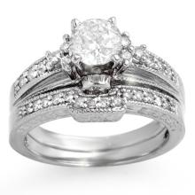 18K White Gold Jewelry 1.30 ctw Diamond Solitaire Ring - SKU#U171T2- 1723- 18K