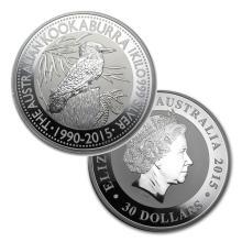 1 Kilo Australian Fine Silver Coin - Kookaburra - BU  - REF#GHW8266