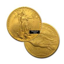 $20 St Gaudens Gold Coin - Double Eagle - 1907 to 1933 - Random date  - REF#ZML8299