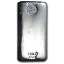 1 Kilo Perth Mint .999 Fine Silver Bar - REF#KKC8350