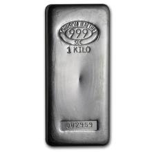 1 Kilo Johnson Matthey .999 Fine Silver Bar - REF#RBT8554