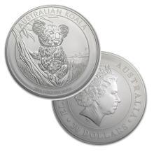 1 Kilo Australian Fine Silver Coin - Koala - BU  - REF#ZML8581