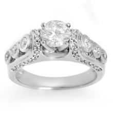 18K White Gold Jewelry 1.75 ctw Diamond Bridal Ring - SKU#U228X8- 1921- 18K