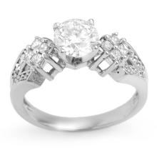 18K White Gold Jewelry 1.50 ctw Diamond Bridal Ring - SKU#U243V6- 1929- 18K