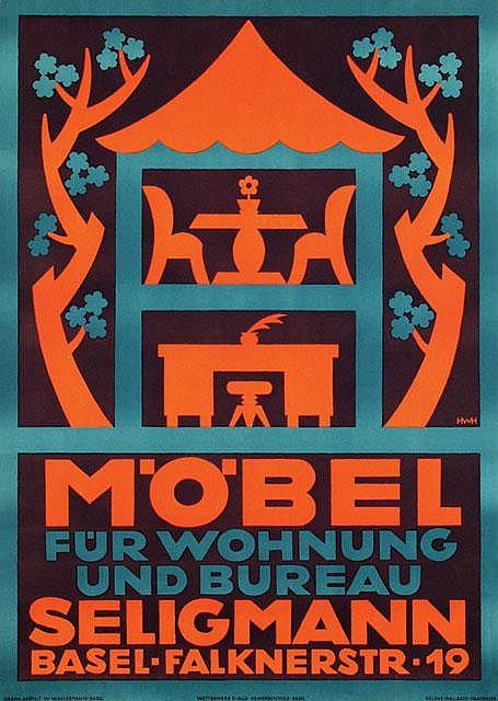 Poster by Helene Haasbauer-Wallrath - Möbel für Wohnung und Bureau