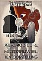 Poster by A.M. Cassandre - RAI Automobiel- & Motorrijwiel Tentoonstelling, Adolphe Mouron Cassandre, Click for value