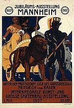 Poster by August Groh - Internationale Kunst- und grosse Gartenbau-Austellung Mannheim