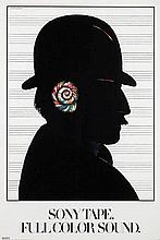 Poster by Milton Glaser - Sony Tapes Full Color Sound