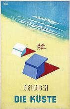 Poster by  Broco (ps. André Brocorens 1914-1997) - Belgien Die Küste