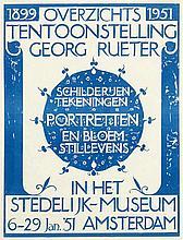 Poster by Georg Rueter - Overzichts Tentoonstelling Georg Rueter