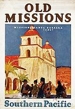 Poster by Maurice Logan - Southern Pacific Old Missions