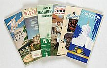 Posters (6) by  Various artists - A collection of 6 American touristic brochures