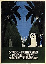 Poster by August Groh - 3 Tage in Monte Carlo Künstlerfest