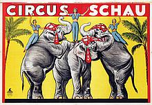 Poster by  Anonymous - Circus Schau (3 elephants)