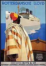 Poster by Joseph Rovers - Rotterdamsche Lloyd Ruys & Co. Egypt Ceylon Sumatra Java