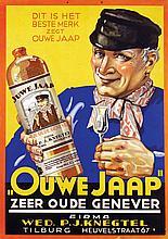 Poster by  Anonymous - Ouwe Jaap zeer oude Genever Tilburg
