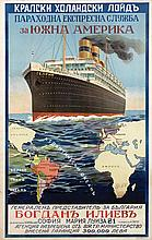 Poster by  Anonymous - Koninklijke-Hollandsche Lloyd South-America Gelria