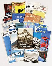 Posters (18) by  Various Swiss artists - A collection of 18 touristic brochures