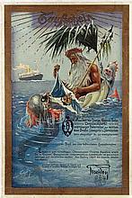 Poster by Hans Bohrdt - HAPAG Taufschein