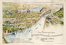 Poster by  Initials HIBs - Vue Panoramique de l'Exposition Universelle & Internationale de Liége