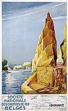 Poster by  Nouille - Sociéte Nat. des Chemins de Fer Belges Dinant