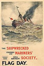 Poster by  Anonymous - Shipwrecked Mariners' Society Flag Day