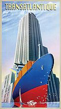 Posters (3) by Richard Roussel - French Line CMA CGM Transatlantique