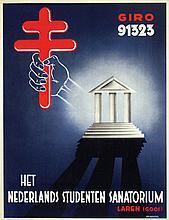 Poster by Nico Raemaekers - Het Nederlands Studenten Sanatorium Laren