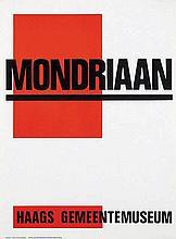 Poster by Paul Schuitema - Haags Gemeentemuseum Mondriaan