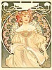 Poster by Alphonse Mucha - Reverie (F. Champenois, Paris)