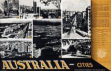Posters (2) by  Initials D.J.F. - Australia Cities