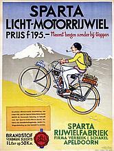 Poster by van Heimburg - Sparta Licht-Motorrijwiel