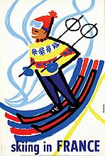Poster by  Constantin - skiing in France