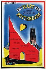 Poster by Dick Elffers - Revue theater Arena Het Hart van Rotterdam