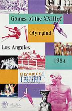 Poster by Laurie Raskin - Games of the XXIIIrd Olympiad Los Angeles